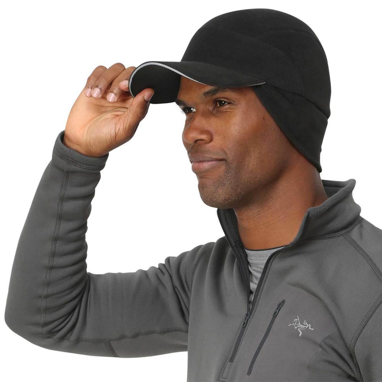 Winter men's hat for running